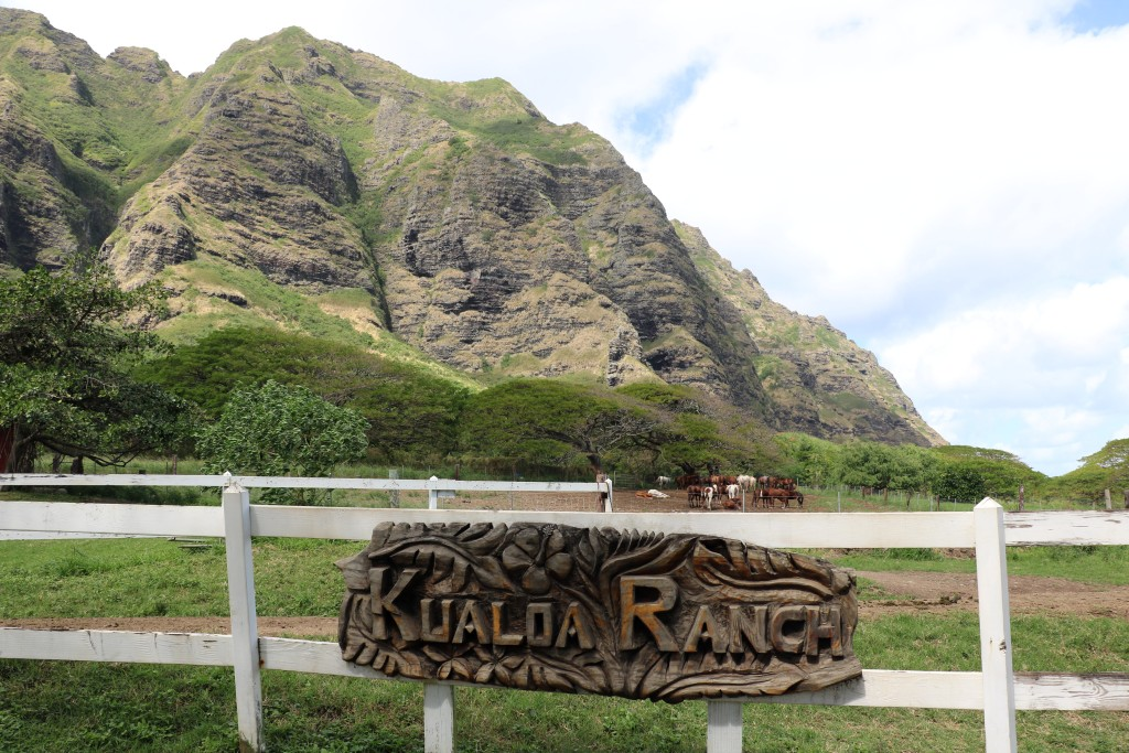 Kualoa ranch sign